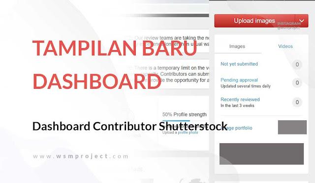 Tampilan Dashboard Contributor Shutterstock yang Semakin Elegan