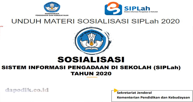 UNDUH MATERI SOSIALISASI SIPLah 2020 Biro Umum & PBJ Kemdikbud