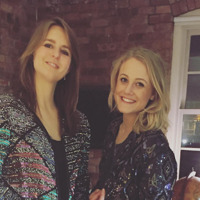 Em and I in sequins at Thanksgiving Dinner