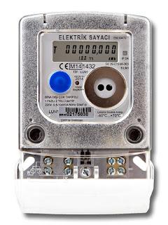 Elektronik göstergeli elektrik sayacı