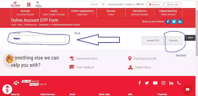 how to open online bank account in Nepal