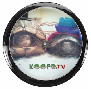 TV Troopas wall clock KoopaTV Store merchandise time DST turtle tortoise