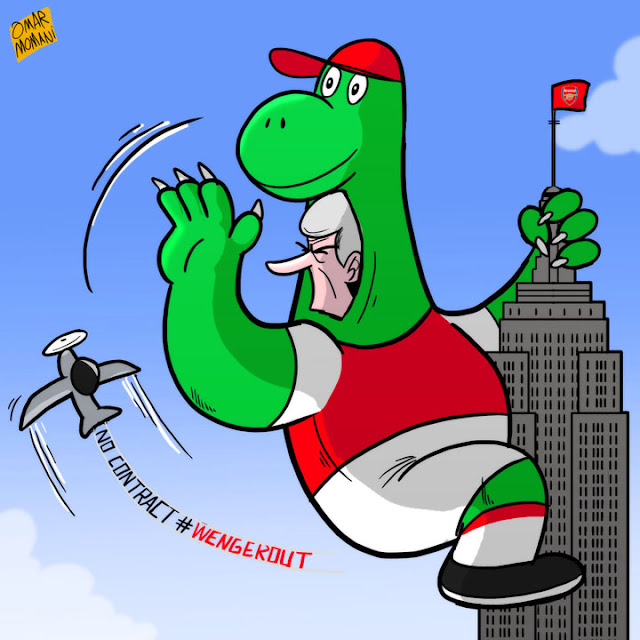 Gunnersaurus Wenger cartoon
