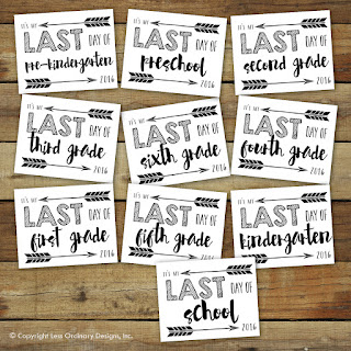 picture regarding Last Day of School Signs Printable called Totally free Printable: Closing Working day of College or university 2016 Signs or symptoms - Sara Luke