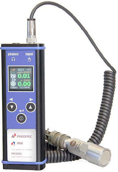 Vibrómetro de uso industrial para medida en maquinaria.