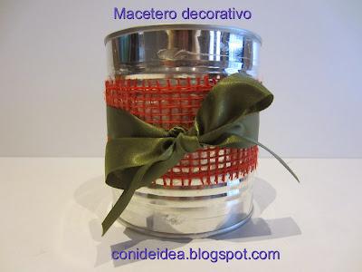 Macetero Decorativo De Caja