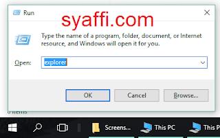 37. Run Explorer pada Windows 10 syaffi com
