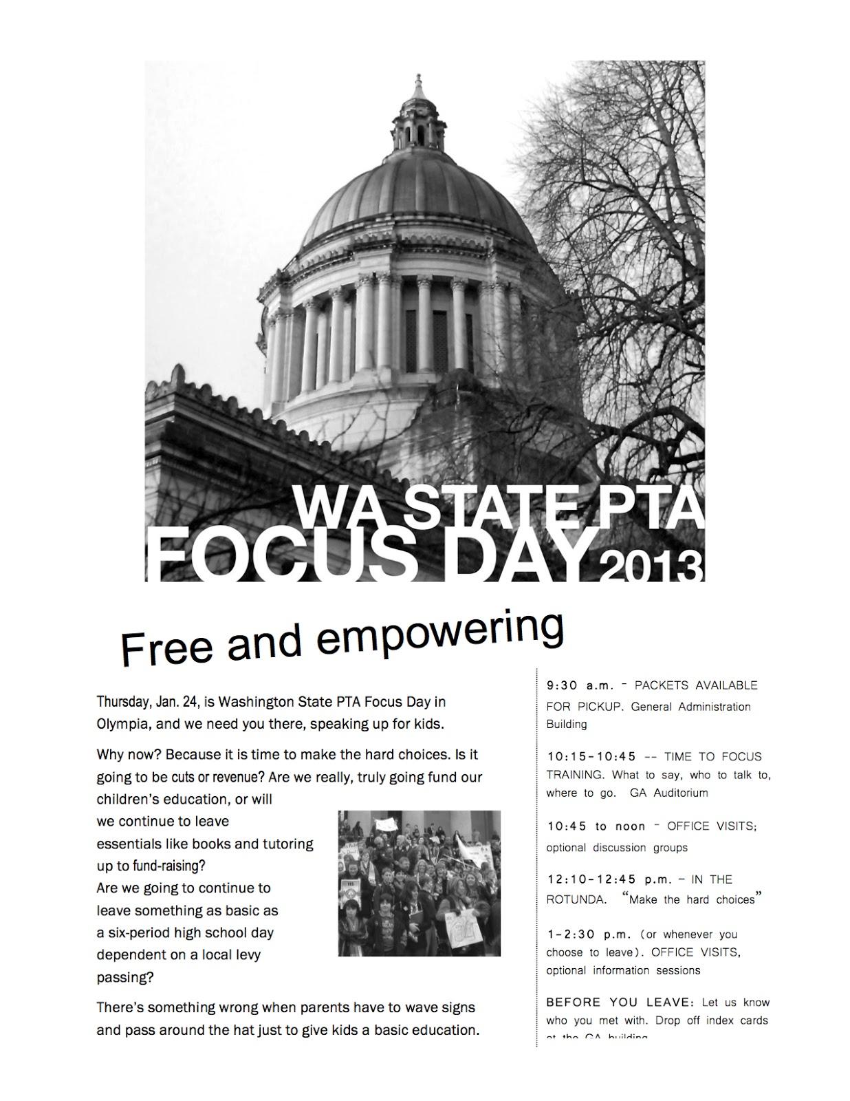 WSPTA Focus Day: Updated printable flyer