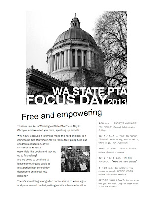 WSPTA Focus Day: January 2013