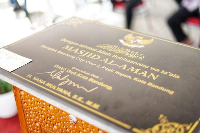 Wakil Wali Kota Bandung Yana Mulyana Resmikan Masjid Al Aman di Mandalajati