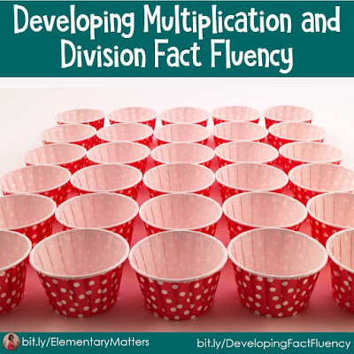 Developing Multiplication and Division Fact Fluency: Fact fluency is essential for success in mathematics. Here are 6 strategies to help the children develop fluency with multiplication and division facts. There's a freebie, too!