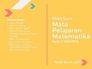 Buku Guru Matematika Kelas 7 SMP/MTs Edisi Revisi 2017