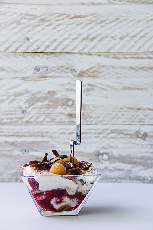 This is a Sweet Blog:Tiramisu with Coffee Syrup & Raspberry Compote