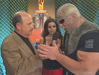WCW Sin 2001 Review - Mean Gene Okerlund interviewed Scott Steiner (w/ Midajah)
