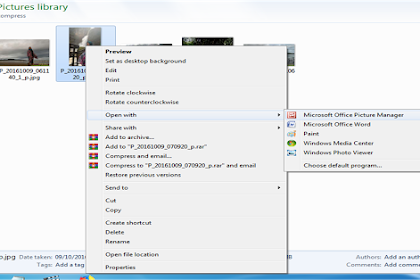 Compress picture dengan Ms office picture manager (Ms Office 2007)