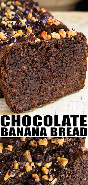 EASY CHOCOLATE BANANA BREAD RECIPE
