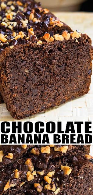 EASY CHOCOLATE BANANA BREAD RECIPE