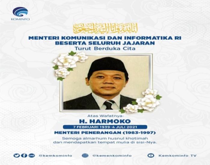 Kenang Pengabdian Menteri Penerangan Harmoko, Menkominfo: Terima Kasih atas Karya dan Dedikasinya untuk Indonesia