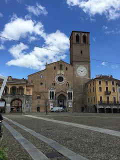 The Basilica Cattedrale della Vergine  Assunta dominates Lodi's Piazza della Vittoria