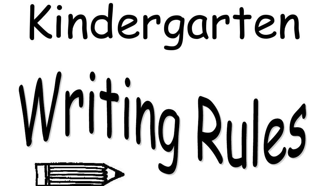 Prima Kindergarten: Writing Rules!