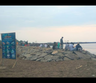potret pantai caringin terbaru dimana sekarang bibir pantai di dam