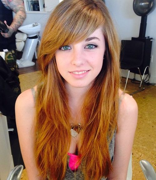 Long Hair With Side Bangs