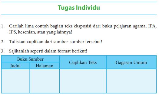Jawaban Buku Bahasa Indonesia Kelas 8 Tugas Individu Hal 67 Carilah Lima Contoh Pentium Sintesi