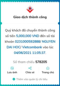 Trùn quế Đăk Mil chuyển tiền