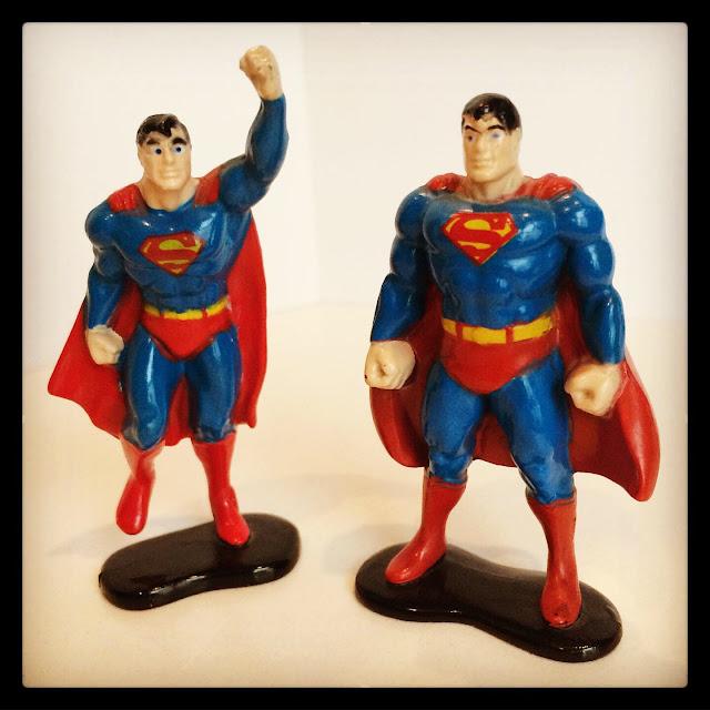 Ertl Superman mini-figures