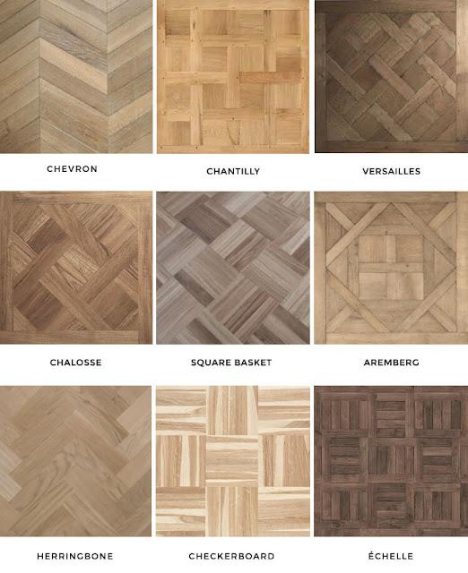 Berbagai pola dan motif parket