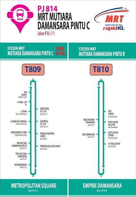 RapidKL T809 T810 Stesen MRT Mutiara Damansara Feeder Bus Service