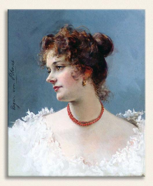 Eugene de Blaas Bir Kadın Portresi