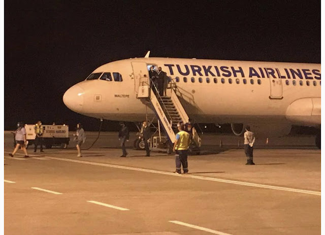 First flight from Turkey lands at Ercan, 1 person denied entry