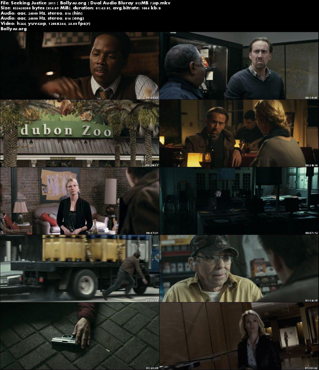 Seeking Justice 2011 BluRay 800MB Hindi Dual Audio 720p Download