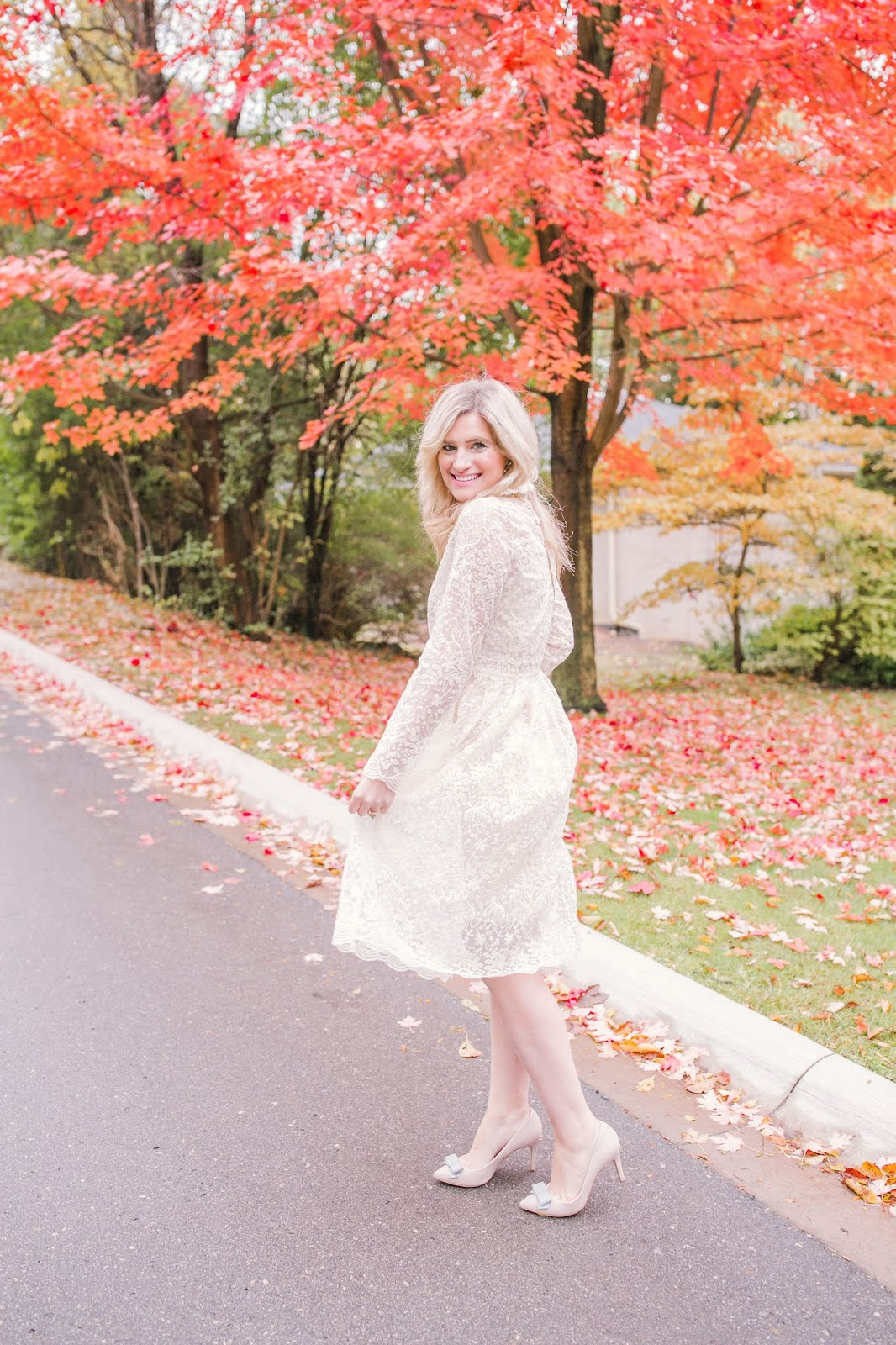 Bijuleni - What To Wear To Your Bridal Shower - Chicwhish white lace dress
