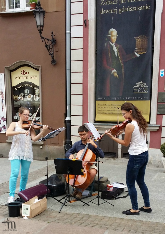 Musicians at the Mariacki Street in Gdansk