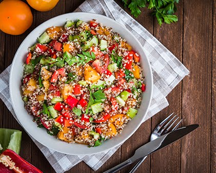 Healthy Quinoa Salad  for lunch