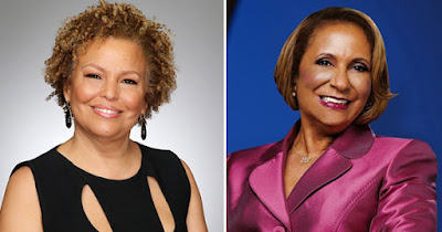 Debra Lee, CEO of BET; and Cathy Hughes, CEO of TV One