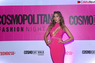 Kara Dell Toro In Stunning Pink Gown at Cosmopolitan Fashion Night in Mexico .xyz Exclusive Pics 009