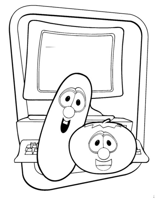 coloring pages feturing veggie tales | Veggietales Coloring Pages Sketch Coloring Page