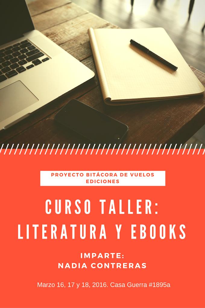 """Curso-Taller """"Literatura y Ebooks"""". Proyecto Bitácora de vuelos"""