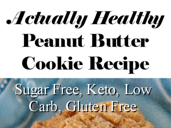 Actually Healthy Peanut Butter Cookies (Sugar Free, Keto, Low Carb, Gluten Free Recipe)