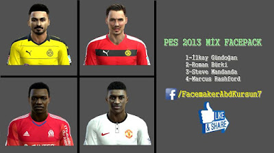 PES 2013 MİX FACEPACK