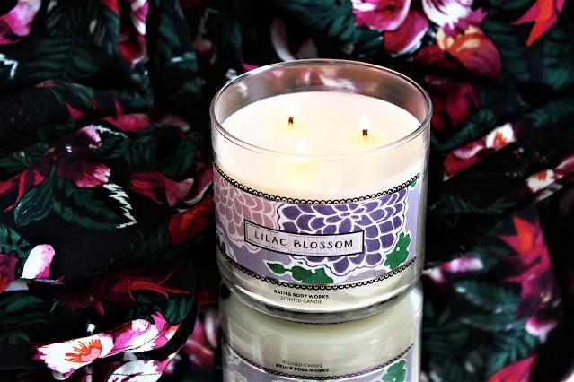 bath and body works lilac, lilac blossom, bath & body works lilac blossom avis, bougie au lilas, bougie parfumee au lilas, parfum au lilas, bougies bath body works, 3 wicks candle, bougies, candles, home fragrance, blog sur les bougies
