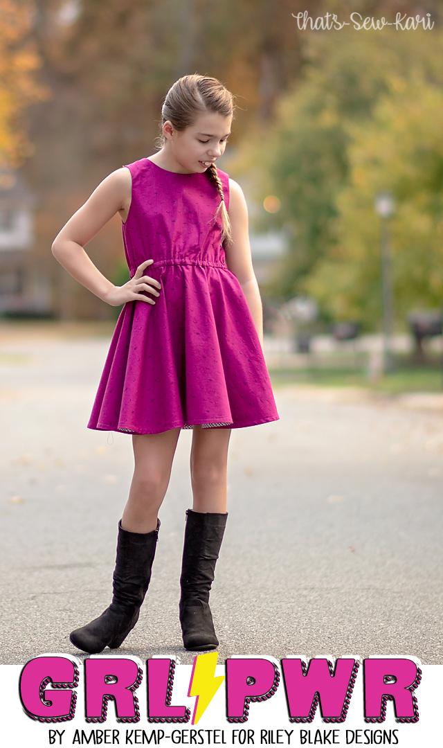 Lightning Blue ~ Grl Pwr by Amber Kemp-Gerstel of Damask Love for Riley Blake Designs 100/% Cotton