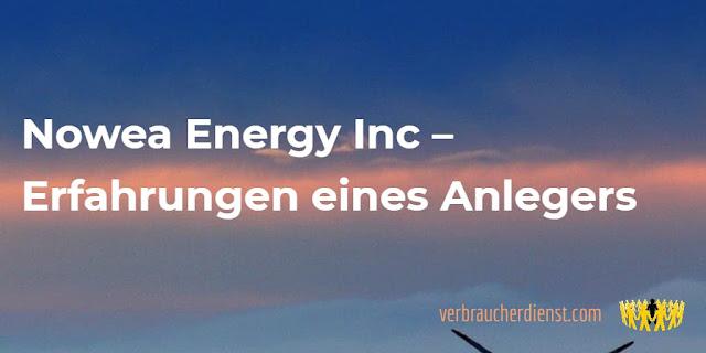 Titel: Nowea Energy Inc – Erfahrungen eines Anlegers