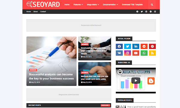 Seoyard Blogger Template