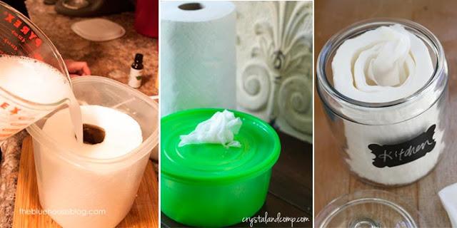 Fabriquer des lingettes désinfectantes maison contre les bactéries et les virus
