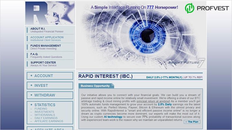 RapidInterest обзор и отзывы HYIP-проекта