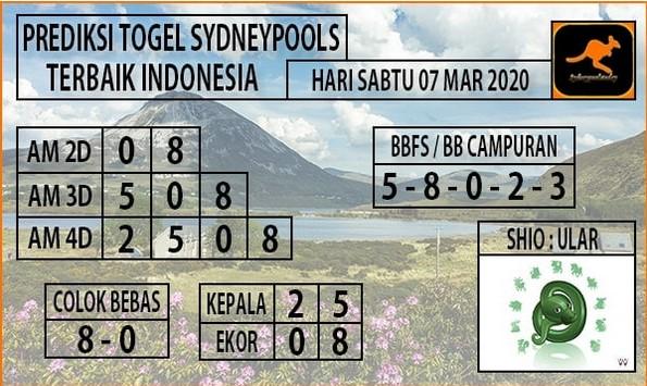 Prediksi Togel Sidney Sabtu 07 Maret 2020 - Prediksi Pasang Nomor